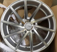 NEW! SILVER MACHINED 18 rim/tire audi a4 a5 a6 BMW 350z g35 370