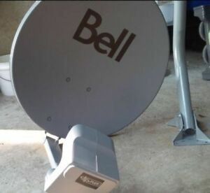 Brand new bell satellite dish with dp plus quad all set up
