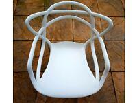 Pair of Philippe Starck Masters Stacking Chairs Finish White