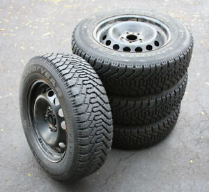 4 NEW Goodyear Studded Tires 195/70/14