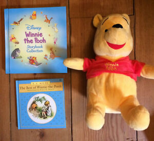 WINNIE THE POOH treasuries and toy $10 - great shape