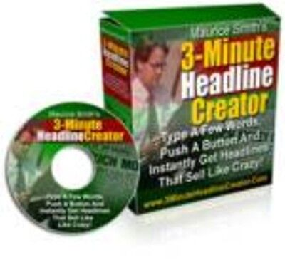 HEADLINE CREATOR INSTANTLY CREATE OVER 100 HEADLINES IN LESS THAN 3-MINUTES