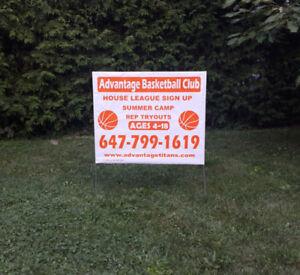 Lawn bag sign-Coroplast-Large Format printing(pickering pickup)