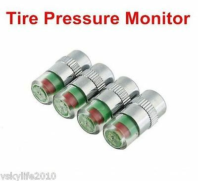 Car Tire Tyre Air Pressure Valve Stem Caps Sensor Indicator Alert Motorbike Bike