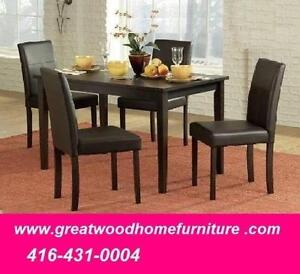 5 PIECE KITCHEN TABLE SET FOR $199 ONLY..LIMITED STOCK !!