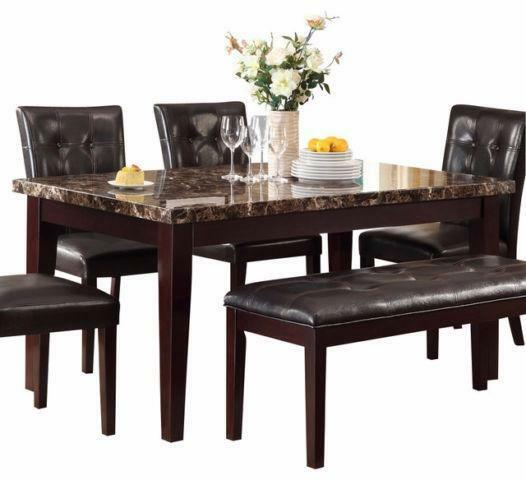 Store Wide Super SALE IS ON Save Brand New Faux Marble 5 Piece Dinette Se