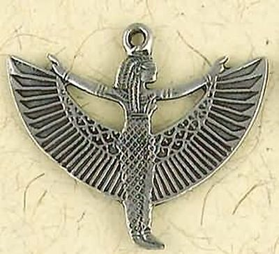 NEW Isis Egyptian Goddess Pewter Pendant Necklace