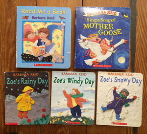 Boards books by BARBARA REID $3 each or all 5 for $10