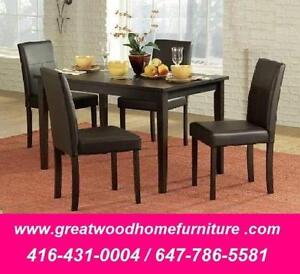 BRAND NEW 5 PIECE  DINING SET..$199..LIMITED STOCK !!