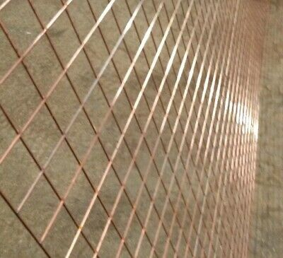 3 QTY 2'' X 2'' X 10 gauge (3mm Wire Thickness) Stainless Steel Weld Mesh Panels