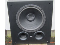 B&W Active AS6 100 Watt High Quality Subwoofer in Good condition Black Case