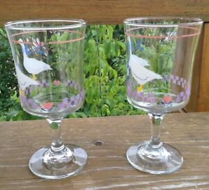 VINTAGE LIBBEY GLASS COUNTRY GOOSEY/GEESE PINK HEART G. Gatineau Ottawa / Gatineau Area image 3