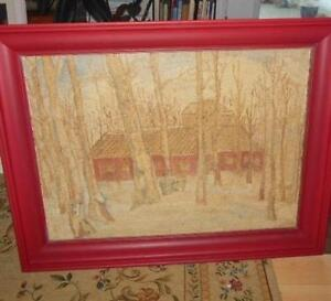 Small upper corner cabinet and hooked picture of maple sap London Ontario image 9