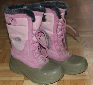 Bottes d'hiver North Face, fillette grandeur 2 US, 33.5 eur