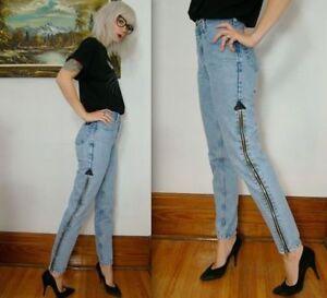 Skinny Punk Jeans long zippers