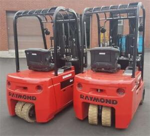 Forklift Raymond 3weeler electric 3500 Lbs 2014 model 445