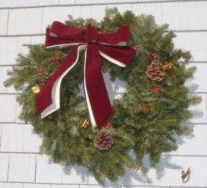CHRISTMAS WREATHS   FULL NATURAL BALSAM FIR