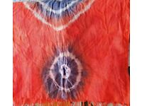 Rust color pure cotton organic dyed womens stole, dupatta, scarf, shawl