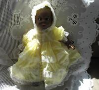 "17"" SWEET DARK BROWN GERBER FLIRTY EYE DOLL,SLEEPERS,BOX"