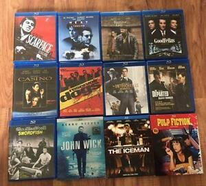 12 Gangster BluRay Movies $40 for All