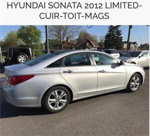 2012 Hyundai Sonata Limitée 55$/SEM 0$ COMPTANT 100% APPROUVÉ