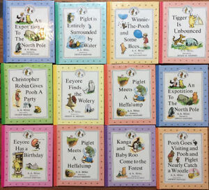 12 Mini Hardcover Books - COMPLETE TALES OF WINNIE THE POOH $20