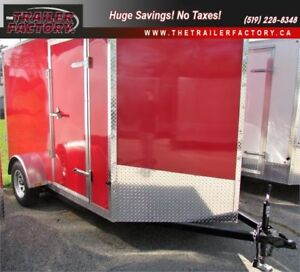 New Cargo Trailer 6'x10' V-Nose Red, Financing Available