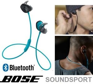 NEW BOSE SOUNDSPORT IN-EAR WIRELESS BLUETOOTH HEADPHONES - BLUE