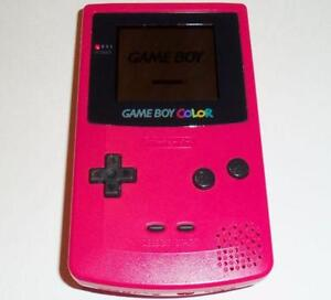 *****PINK NINTENDO GAME BOY COLOR/GAMEBOY COLOUR ROSE + JEUX/GAMES(MARIO, ZELDA, POKEMON, DONKEY KONG)!!!!!*****