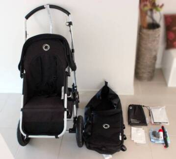 Bugaboo Gecko Pram Stroller and Bassinet with accessories Point Cook Wyndham Area Preview