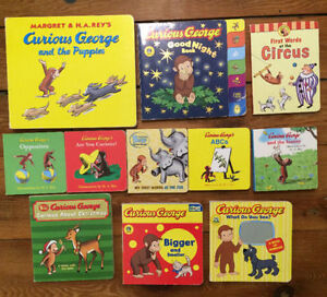 CURIOUS GEORGE Board Books $3 each or all 11 for $25