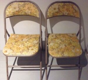 Mid C. COOEY Folding Chairs BRONZE Antique Vintage