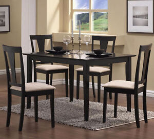 BRAND NEW!! ESPRESSO FINISH, 5 Pc RECTANGULAR DINING SET