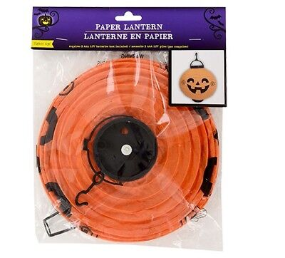 Battery Operated Paper Halloween Lanterns (New Set of 2 Battery-Operated Halloween Paper Lanterns Pumpkins)