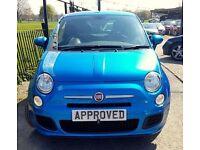 FIAT 500 1.2 S 3d 69 BHP BRILLIANT INDIVIDUAL FIAT PAINT!! (blue) 2015
