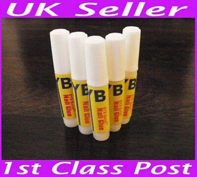 5x 2g Glue False Fake Nail Tips French Acrylic Nail Art