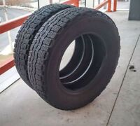 Set of two 185/70/14 Michelin winter tires 8/32 tread