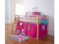 Kids mid-sleeper bed frame - without tent (photo indicative only)