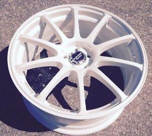 "$699 (Tax-In)- NEW 18""Advan RS10 reps(5x100)- Gloss White -MK4 Golf/Jetta/ Beetle/ Impreza/BRZ/ FRS/ Legacy/ Corolla"