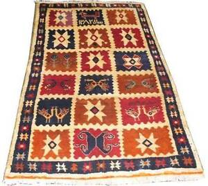 Qashqa'i Shiraz Tribal Wool on WoolAuthentic Handmade Persian Rug Hornsby Hornsby Area Preview