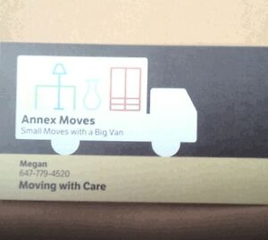 Van and woman mover annex student rates 647-779-4520