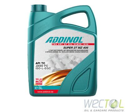 5 Liter Addinol SUPER 2T MZ 406 synthetisches Hochleistungsöl Rolleröl 1x5