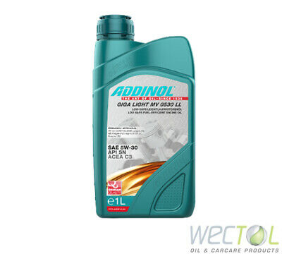!!! ANGEBOT !!! 1 x1 Liter Addinol GIGA LIGHT MV 0530 LL Longlife Motoröl 5W-30