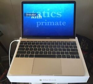 MacBook Gold 12 Inch Laptop - Perfect Condition with Box