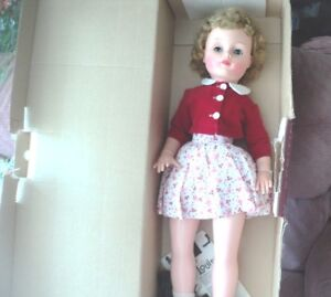 """30"""" RELIABLE LOUISA ; MULTI JOINTED 1961 DOLL, RED OUTFIT, BOX"""
