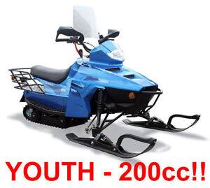 NEW GIO ARTICA YOUTH SNOWMOBILE 200CC GY6 SLED