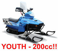 NEW GIO ARTICA YOUTH SNOWMOBILE 175 CC GY6 SLED