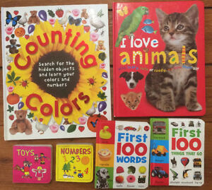 First Words, Numbers, Letters, Colours etc,, BOARD BOOKS 6/$10