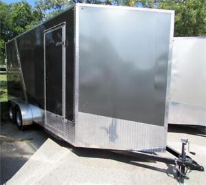New Cargo Trailer 7'x16' V-Nose Charcoal, Financing Available