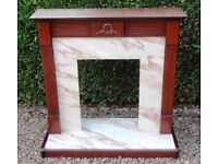 DRASTICALLY REDUCED ! As New - Delightful MAHOGANY FIREPLACE SURROUND
